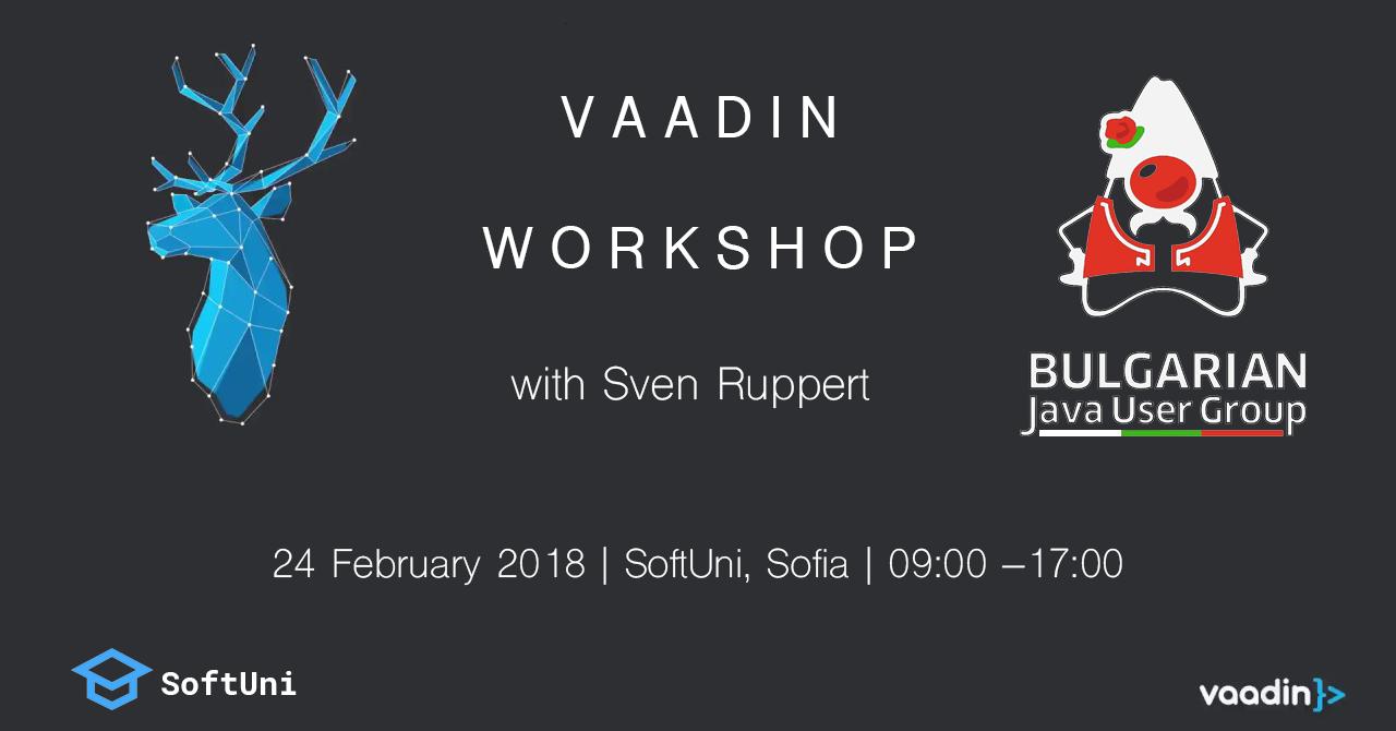 Vaadin Workshop | BG-JUG – Java Bulgarian User Group